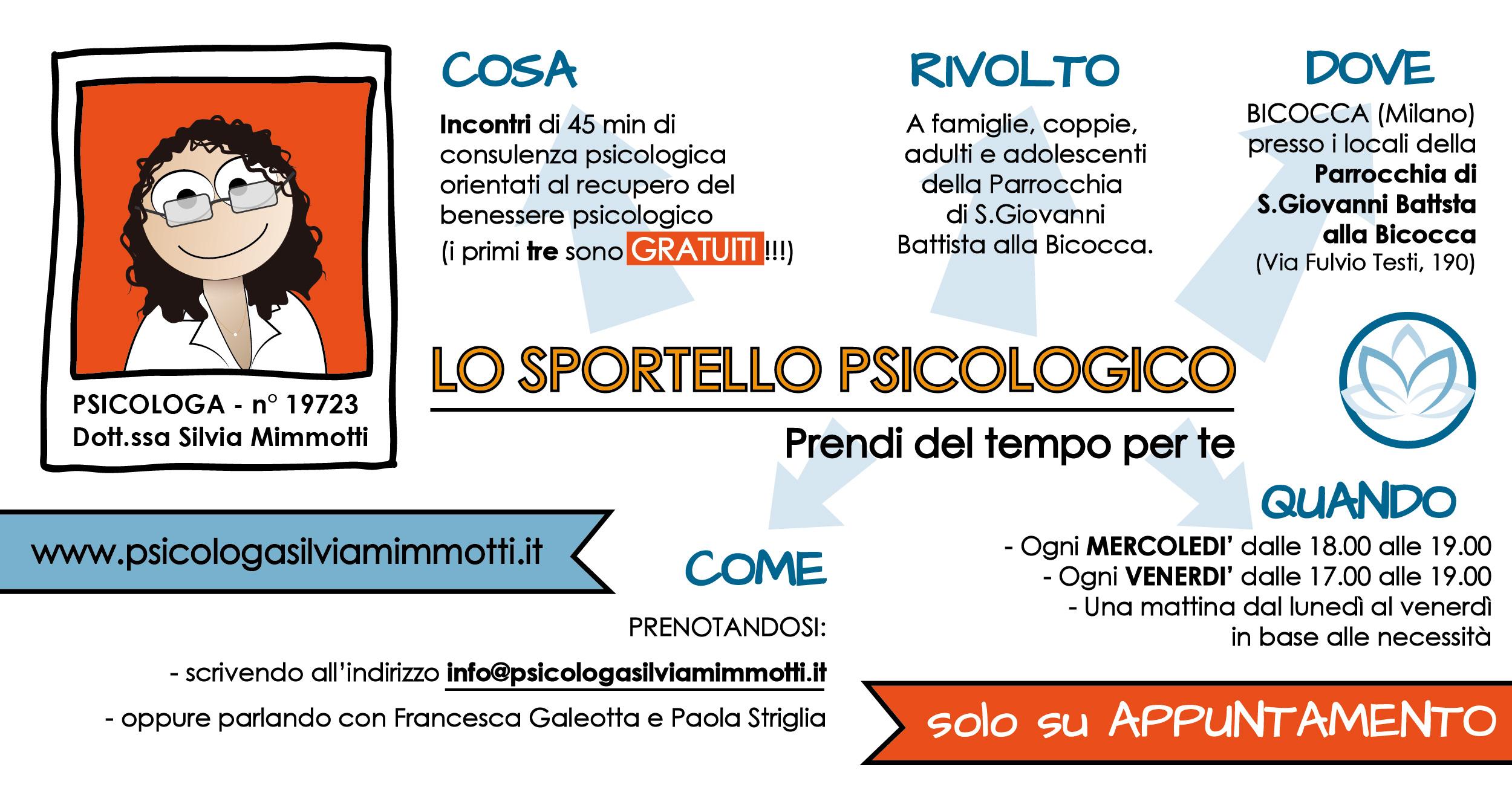 Sportello Psicologico Psicologa Silvia Mimmotti